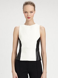 Jason Wu - Leather/Lace Combo Shell