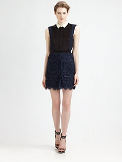 Jason Wu - Corded Lace/Satin Dress