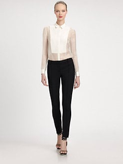 Jason Wu - Silk Faille Smoking Shirt