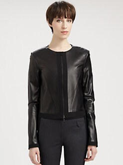 Jason Wu - Zip-Front Leather Jacket
