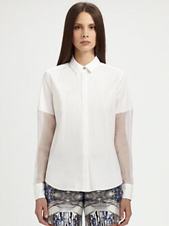 Prabal Gurung - Draped-Back Blouse