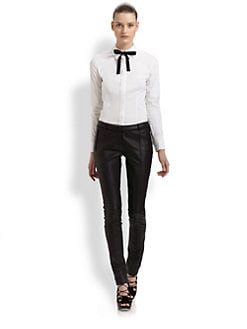 Jason Wu - Bow-Neck Cotton-Blend Shirt