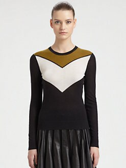 Jason Wu - Cashmere & Silk Chevron Sweater