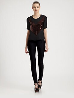 Jason Wu - Silk Sequined Chevron Tee