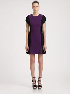 Jason Wu - Colorblock Stretch Wool Dress