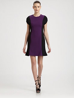Jason Wu - Colorblock Stretch Вълна рокля