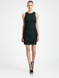 Jason Wu - Stretch Wool Eyelet-Paneled Dress