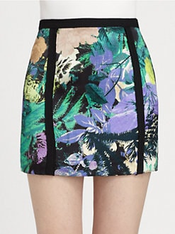 HONOR - Floral Silk Mini Skirt
