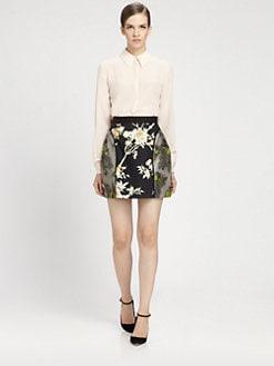HONOR - копринена блуза плакет