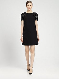 HONOR - Lattice-Sleeve Dress