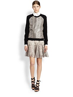 Jason Wu - Snakeskin Baseball Sweater