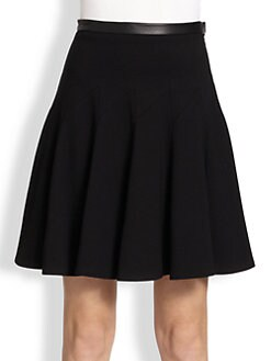 Jason Wu - Leather-Trimmed Skirt