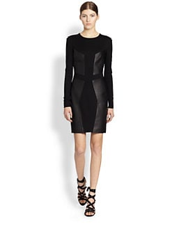 Jason Wu - Leather Panel Dress