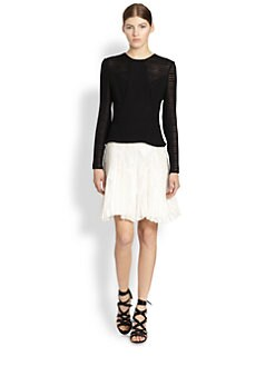 Jason Wu - Mixed Media Pleated Dress