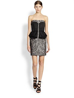 Jason Wu - Strapless Lace Peplum Dress