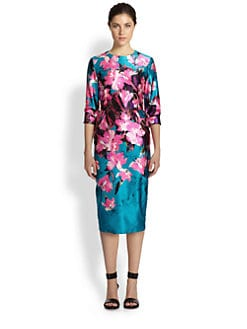 Prabal Gurung - Floral-Print Cotton & Silk Dress