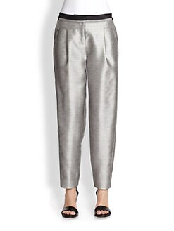 Prabal Gurung - Metallic Silk & Cotton Tuxedo Pants