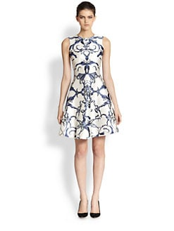 Prabal Gurung - Silk & Cotton Printed Dress