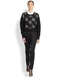 Jason Wu - Embroidered Combo Wool Sweater