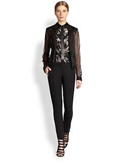 Jason Wu - Fitted Silk Organza Jacket