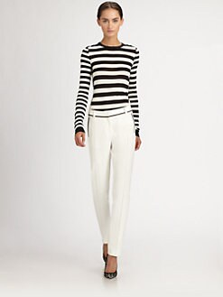 Jason Wu - Striped Silk Pullover