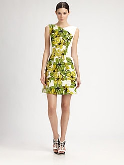 Jason Wu - Printed Silk Faille Dress