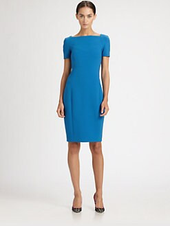 Jason Wu - Short-Sleeve Stretch Wool Dress
