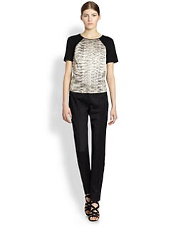Jason Wu - Duchess Satin & Jersey Tee