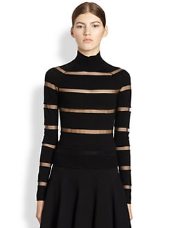 Jason Wu - Mesh Inset Sweater