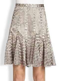 Jason Wu - Silk Snake Print Skirt