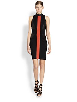 Jason Wu - Sleeveless Leather Panel Dress