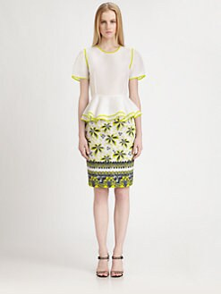 Prabal Gurung - Silk Gazar Peplum Top