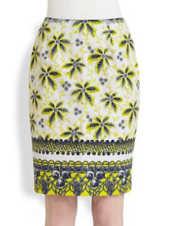 Prabal Gurung - Floral Pencil Skirt