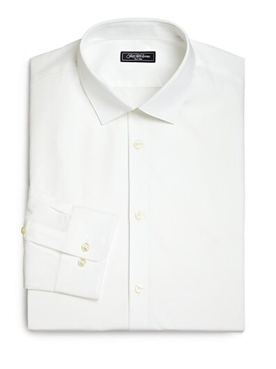 Modern-Fit Stretch Poplin Dress Shirt