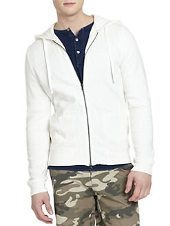 Saks Fifth Avenue Collection - Modern-Fit Waffle-Lined Zip Hoodie