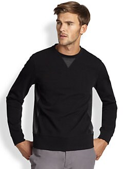 Saks Fifth Avenue Collection - Modern-Fit Contrast Panel Sweatshirt