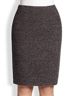 Stizzoli, Sizes 14-24 - Tweed Pencil Skirt
