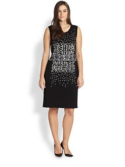 Stizzoli, Sizes 14-24 - Applique Knit Dress