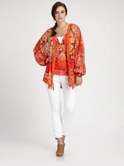 Fuzzi, Salon Z - Printed Open Cardigan