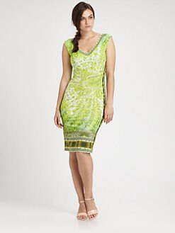 Fuzzi, Salon Z - Printed Sleeveless Dress