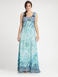 Fuzzi, Salon Z - Printed Maxi Dress