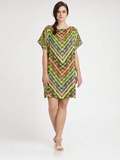 Fuzzi, Salon Z - Chevron-Print Dress