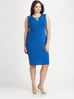 Stizzoli, Salon Z - Pleat/Pendant-Neckline Knit Dress
