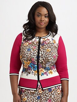 Stizzoli, Salon Z - Mixed-Print Cardigan