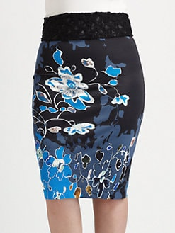 Fuzzi, Salon Z - Floral-Print Pencil Skirt