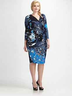 Fuzzi, Salon Z - Floral-Print Gathered-Front Dress