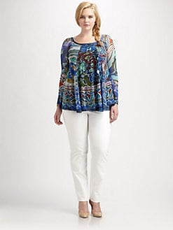 Fuzzi, Salon Z - Abstract-Print Swing Top