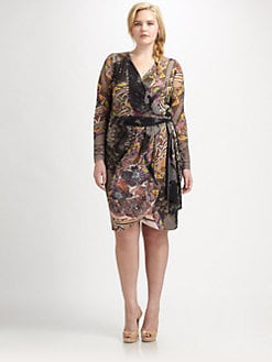 Fuzzi, Salon Z - Abstract-Print Wrap Dress