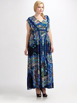 Fuzzi, Salon Z - Abstract-Print Maxi Dress