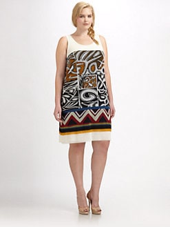 Fuzzi, Salon Z - Tribal-Print Tank Dress